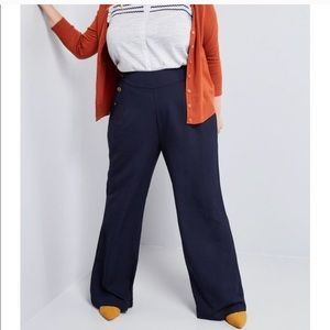 MODCLOTH •NWOT The Cambridge Pant In Navy Wide Leg